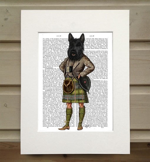 Scottish Terrier in Kilt Book Print