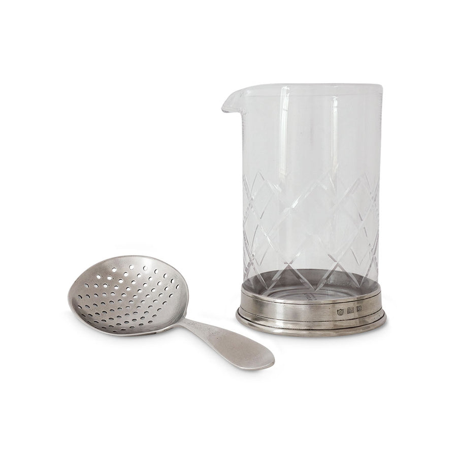 Mixing Glass & Cocktail Strainer