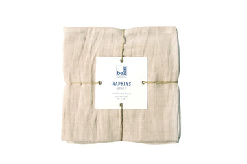 Linen Napkins Birch Set of 4