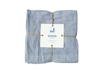 Linen Napkins, Chambray Set of 4
