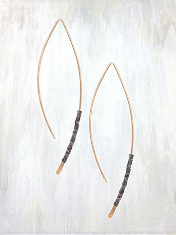 Oxidized Crescent Earrings