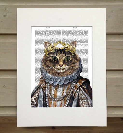 Cat Queen Book Print