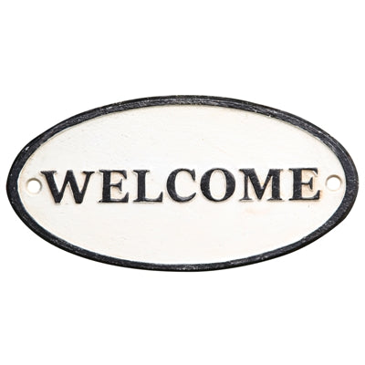 CAST IRON SIGN - WELCOME