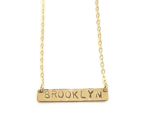 """Brooklyn"" Bar Necklace"