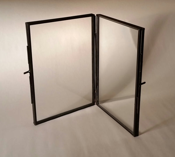 Metal and Glass Accordion Frame