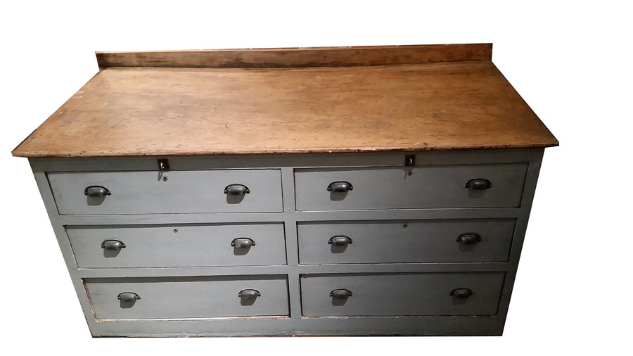 Antique Wooden Chest w/ Drawers