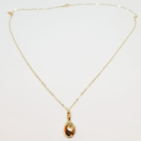 14K Locket Necklace