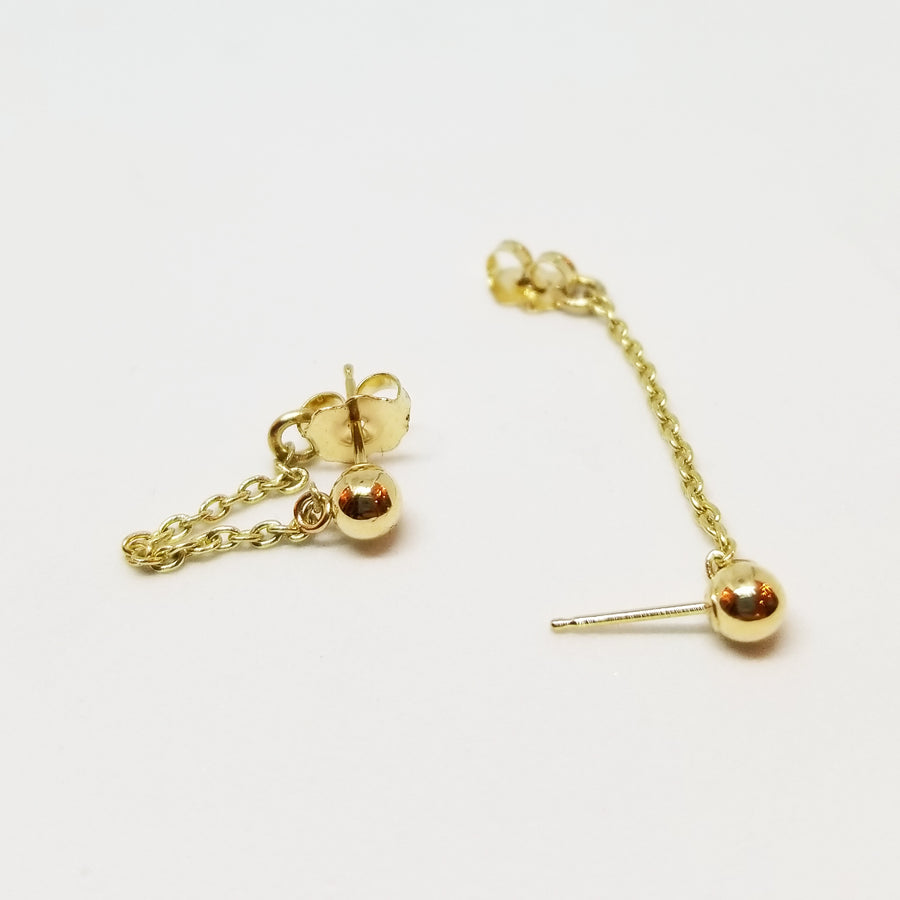 Ball and Chain Stud Earrings