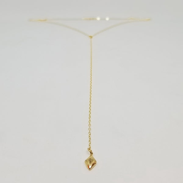 Diamond Shaped Pendant Lariat