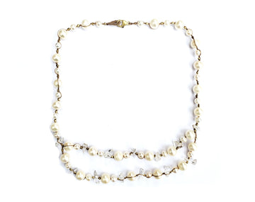 Woven Pearl Necklace