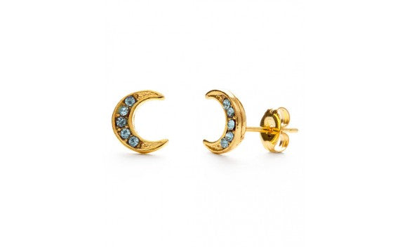 BLUE MOON CRESCENT STUDS
