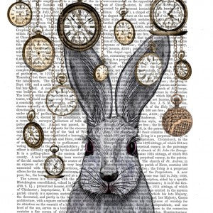 Rabbit Time Book Print