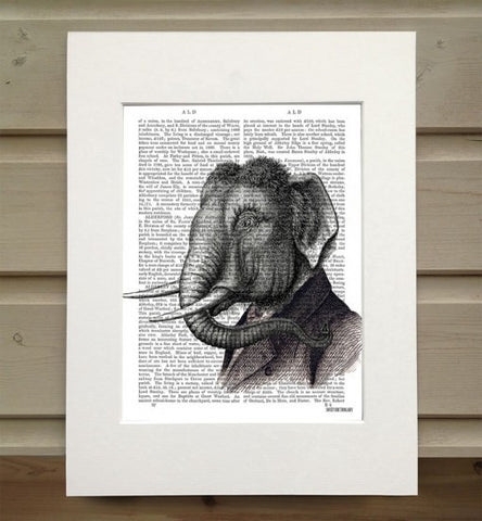 Elephant Portrait Book Print