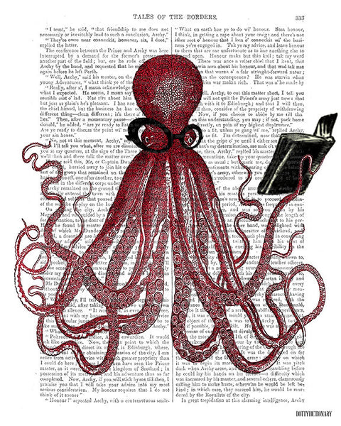 Intelligent Octopus Book Print