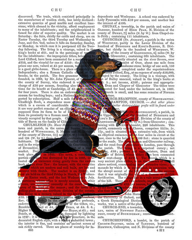 Dachshund on a Moped Book Print