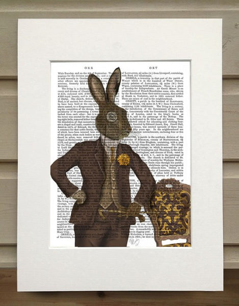 Dapper Hare Book Print