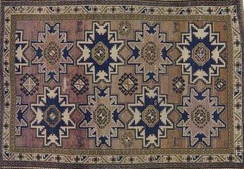 ANTIQUE CAUCASIAN RUG 4'7
