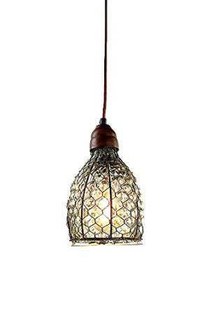 Chicken Wire & Glass Pendant Light – Collier West