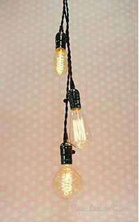 Triple Socket Pendant Cord - Braided