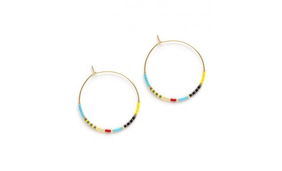 Japanese Seed Bead Hoops