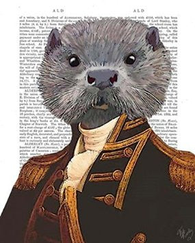 Captain Otter Book Print