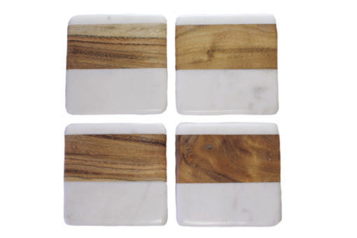 Marble & Wood Coasters - Square