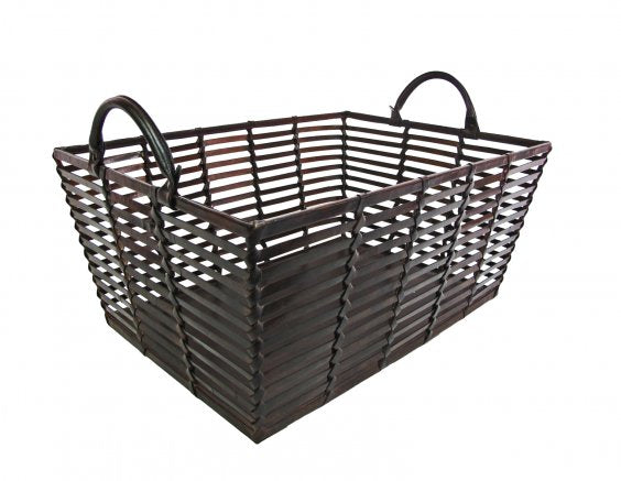 Swain Leather Basket