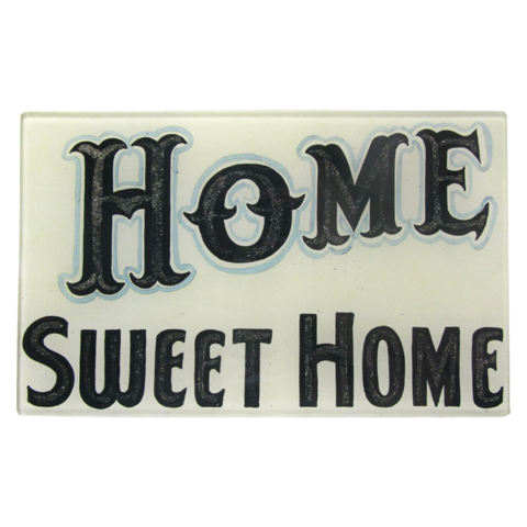 "Home Sweet Home - 5 x 8"" Rect. Tray"