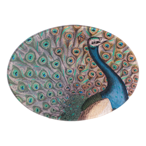 "Peacock Flourish 5 x 7"" Oval"