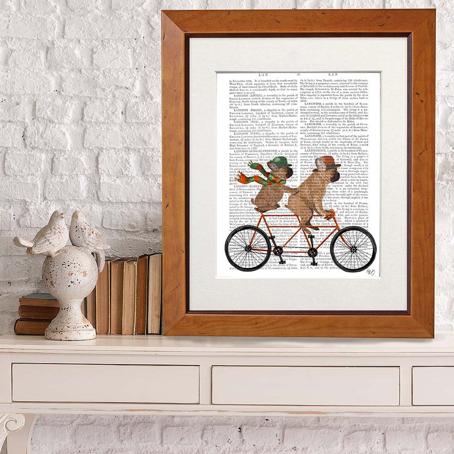 French Bulldog Tandem Book Print