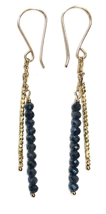 Mystic Sapphire & Gold Vermeil Bead Gold Fill Earrings
