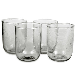 Short Seeded Glasses - Deep Sage