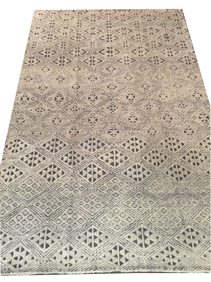 Handmade Contemporary Rug 5'1