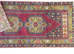 "Vintage Turkish Rug 3'8""x8'2"""