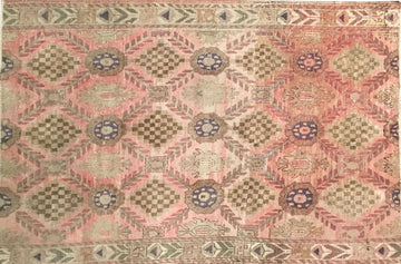 Vintage Turkish Rug 4x5'8