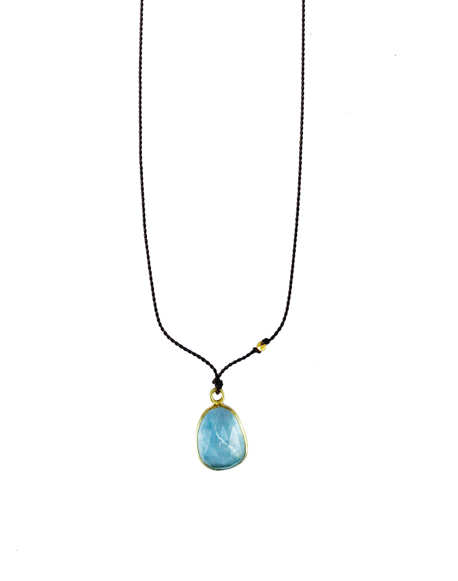 Aqua Marine & 18kt Gold Necklace