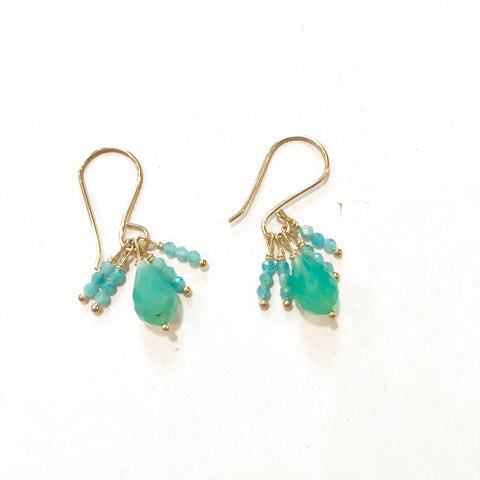 Chrysoprase and Amazonite Earrings
