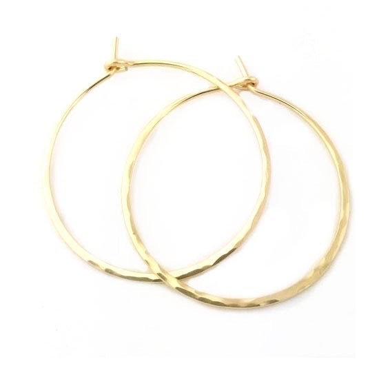 Closed Hoop Earrings - Large