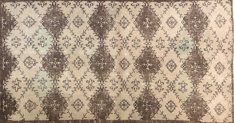 "Art Deco Turkish Rug 3'6"" x 6'4"""