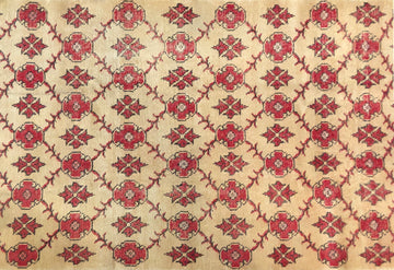 Turkish Art Deco Rug 4'6
