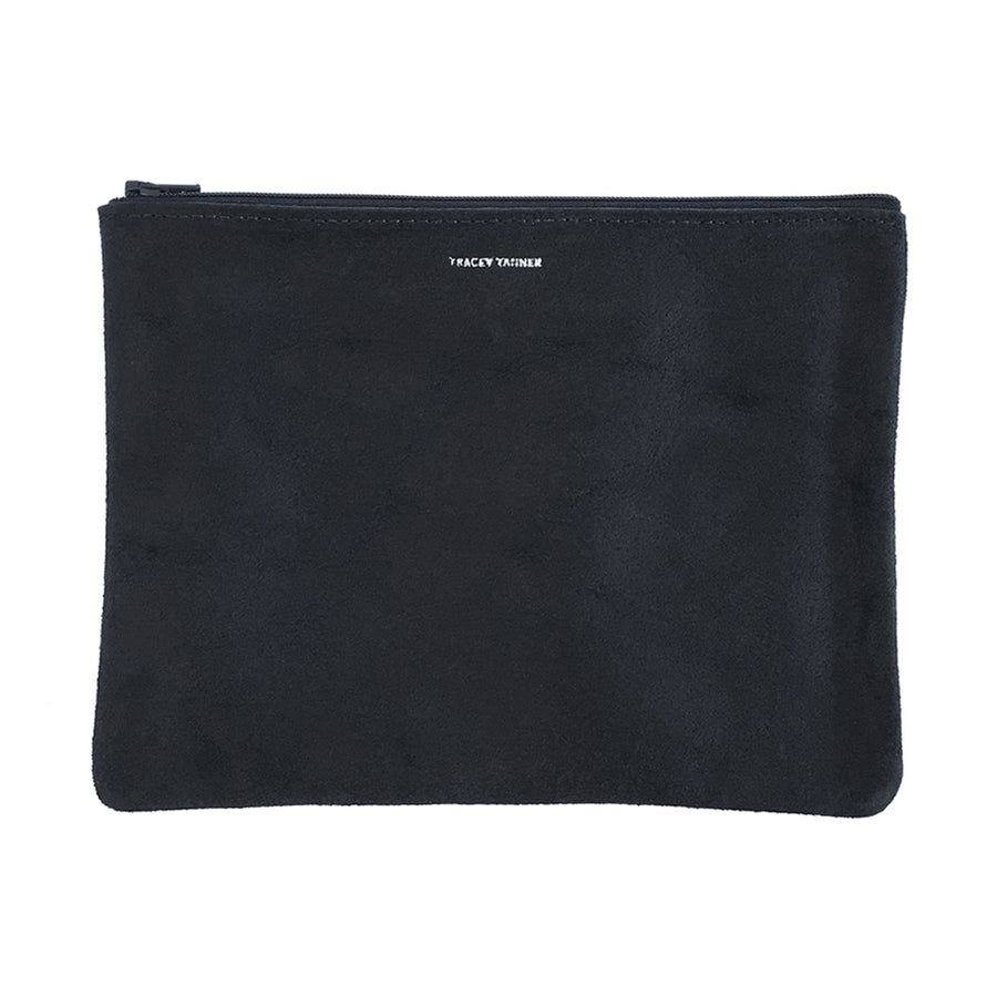 Large Flat Zip Pouch - Black Revolver