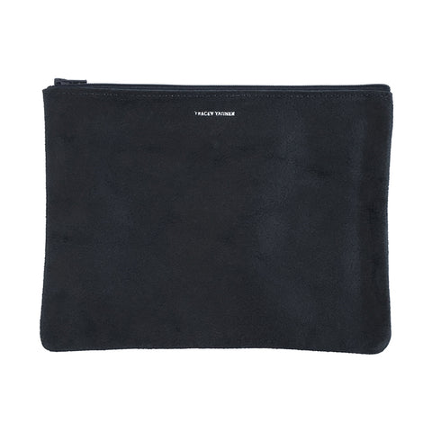 859cb5f4d9 Large Flat Zip Pouch - Black Revolver