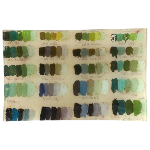 "Green Tones (Painter's Studio) 9 x 14"" Letter Tray"
