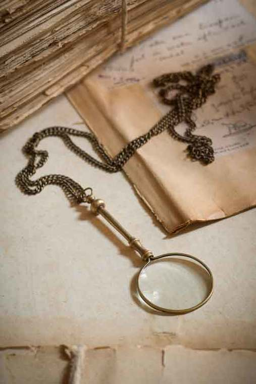 Small Brass Magnifying Glass