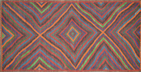 2'8″x5'6″ Vintage Turkish Kilim