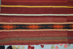 6'6×10'7″ Vintage Turkish Kilim