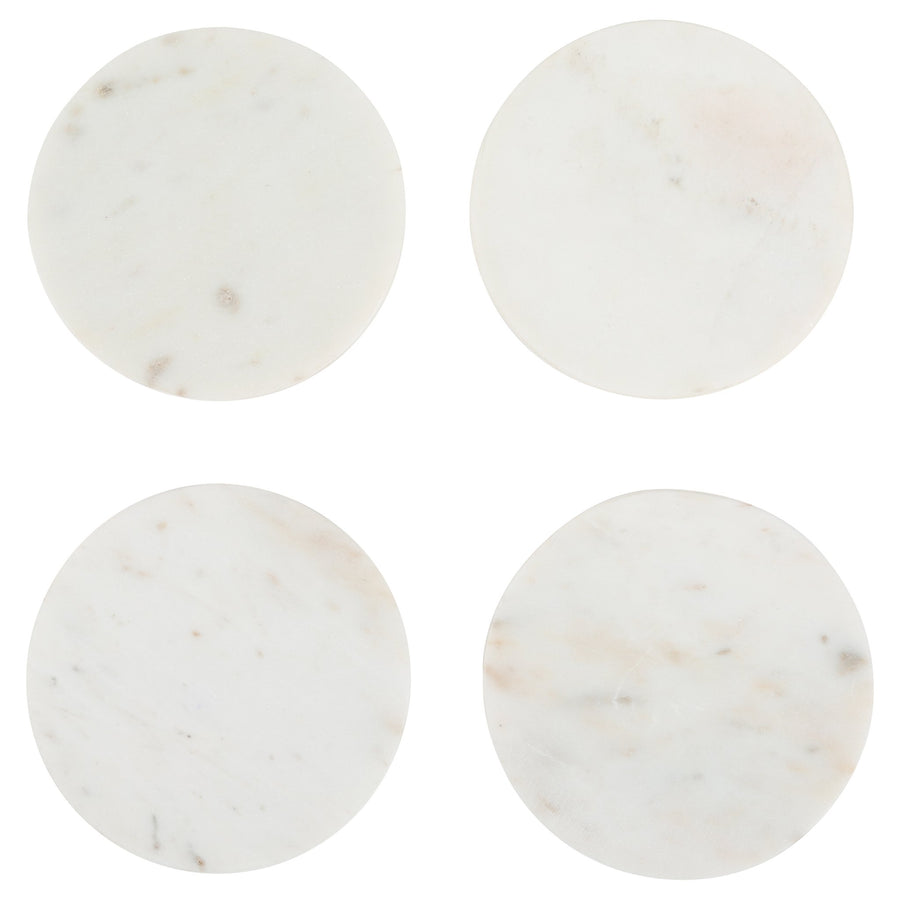 White Marble Coasters (Set of 4)