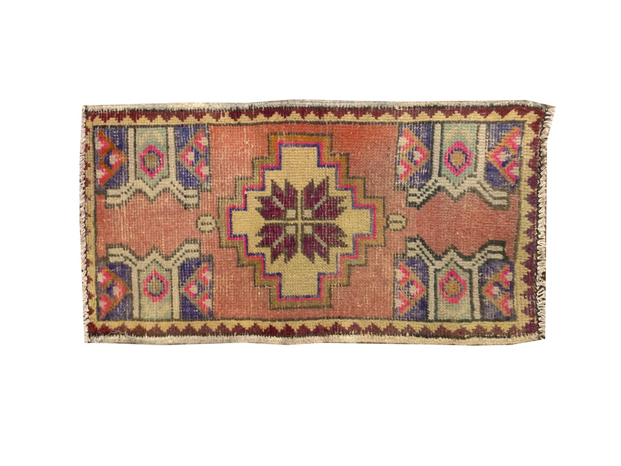 HANDMADE TURKISH YASTIK RUG 1'6