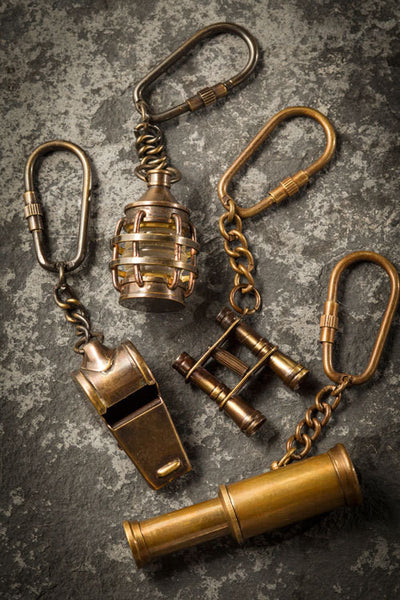 Assorted Brass Key Chains