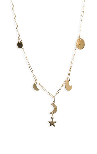 Long Moon Phase Necklace